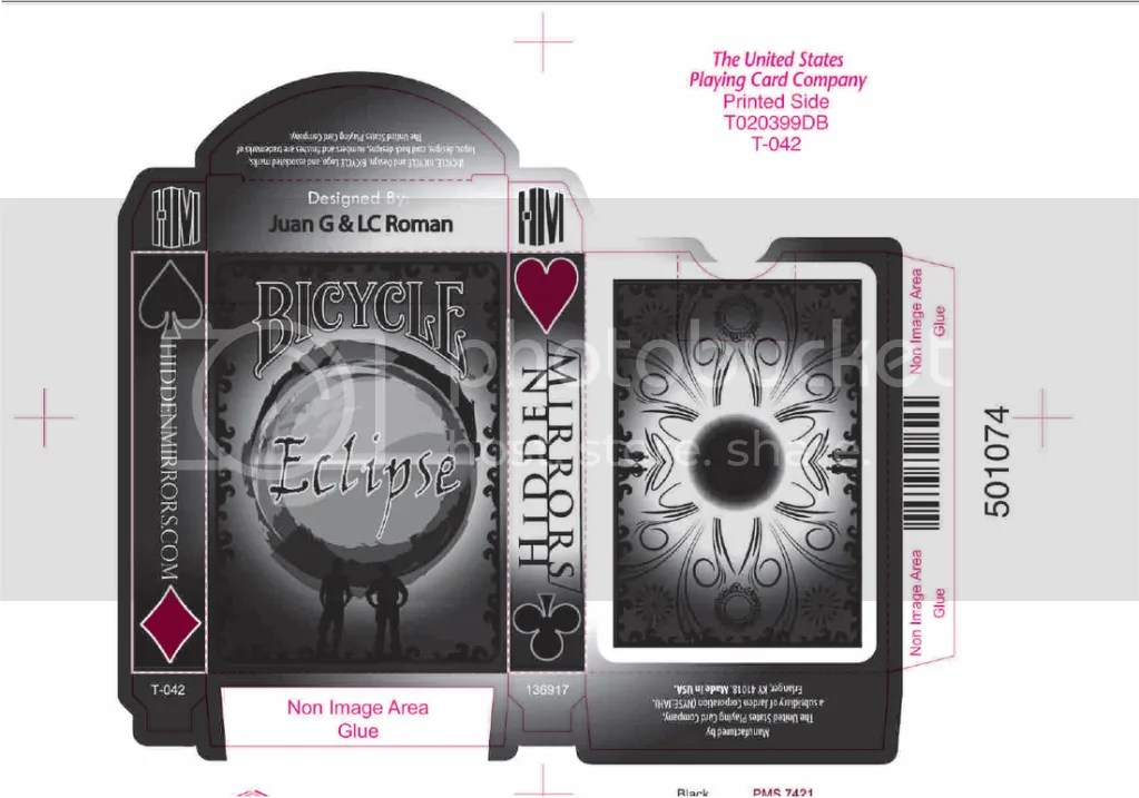 Eclipse Playing Cards box mock up
