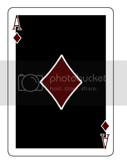 Eclipse playing cards Ace of Diamonds