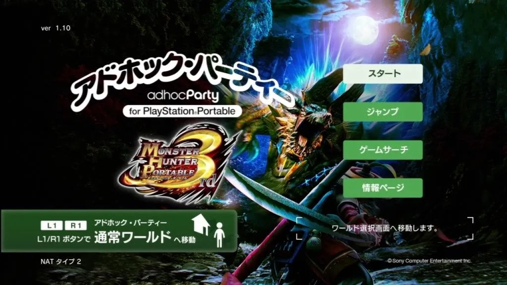 Adhoc Party dengan nuansa Monster Hunter