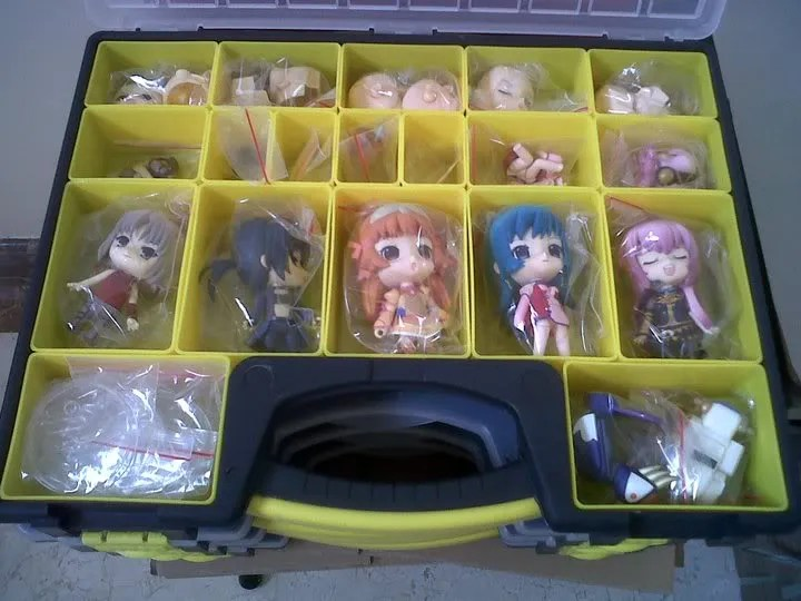 rendoroid stored his Nendoroid in toolboxes