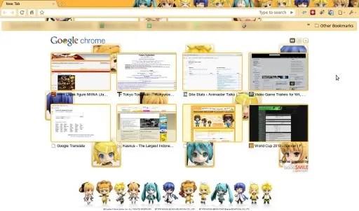 Google Chrome with Nendoroid theme