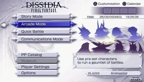 Arcade: mode baru pada Dissidia: Final Fantasy versi USA