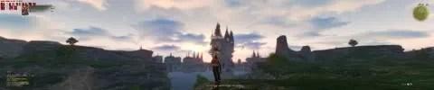 Tampilan Final Fantasy XIV dalam resolusi ekstrim (klik untuk memperbesar)