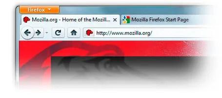 Tampilan Firefox 4 Beta 1 pada Windows