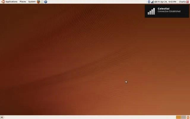 Koneksi Internet: Hal pertama yang dilakukan paska instalasi Ubuntu 9.04
