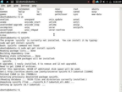 Instalasi aplikasi pada terminal Jolicloud