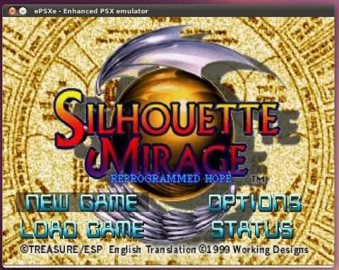 Tampilan sebuah game Playstation pada ePSXe Linux
