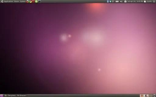 Tampilan desktop Ubuntu 10.04 Lucyd Lynx