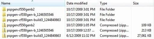 Semua berkas setelah diunduh dan diekstrak