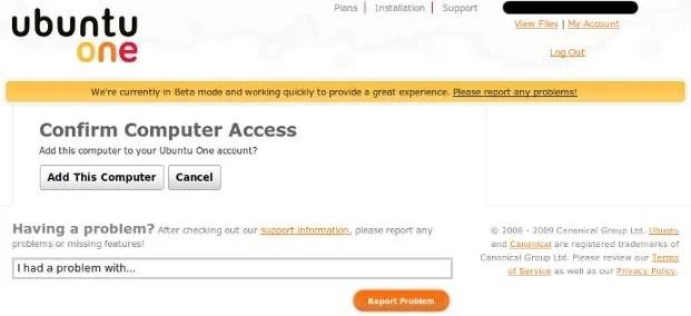 Tambahkan PC anda ke akun Ubuntu One