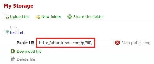Beritahukan publish URL ke teman anda