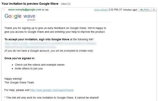Undangan Google Wave dari ... Google