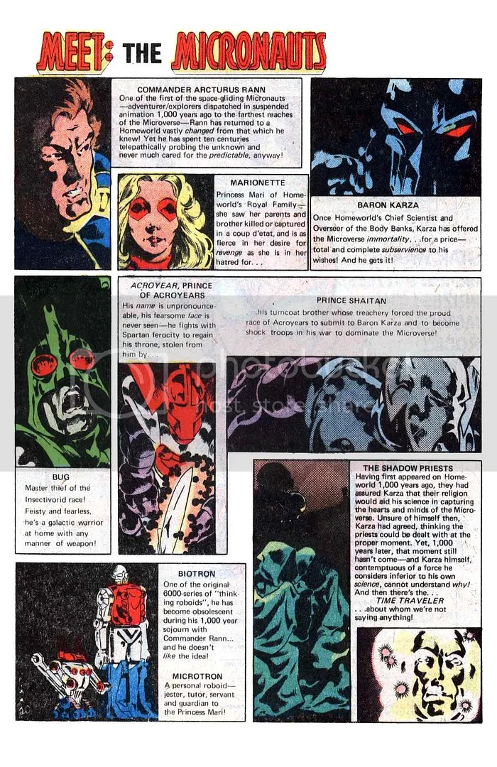 Meet The Micronauts from Micronauts #1 Click for a larger version.