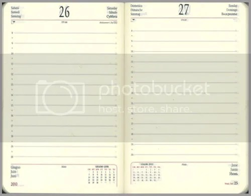 Cartesios planning pages are printed in 2 colors, 6 languages and ...