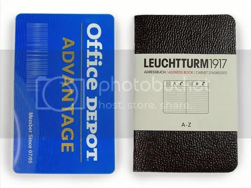 Leuchtturm Mini Address Book is About the Same Size as a Credit Card and Can Be Easily Inserted Into Your Wallet.