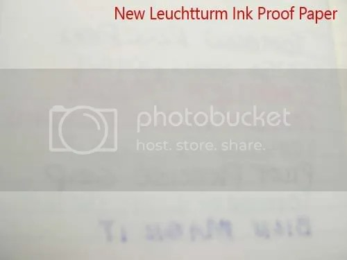 Backside of Leuchtturm ink-proof paper.