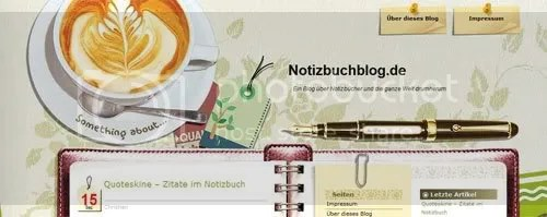 Visit www.notizbuchblog.de to read my interview about notebooks, art journaling and the notebook community.