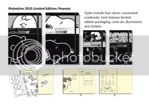 Peanuts, Moleskine Limited Editon notebooks