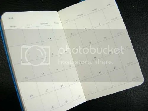 Moleskine Monthly Box-Style Planning Calenders