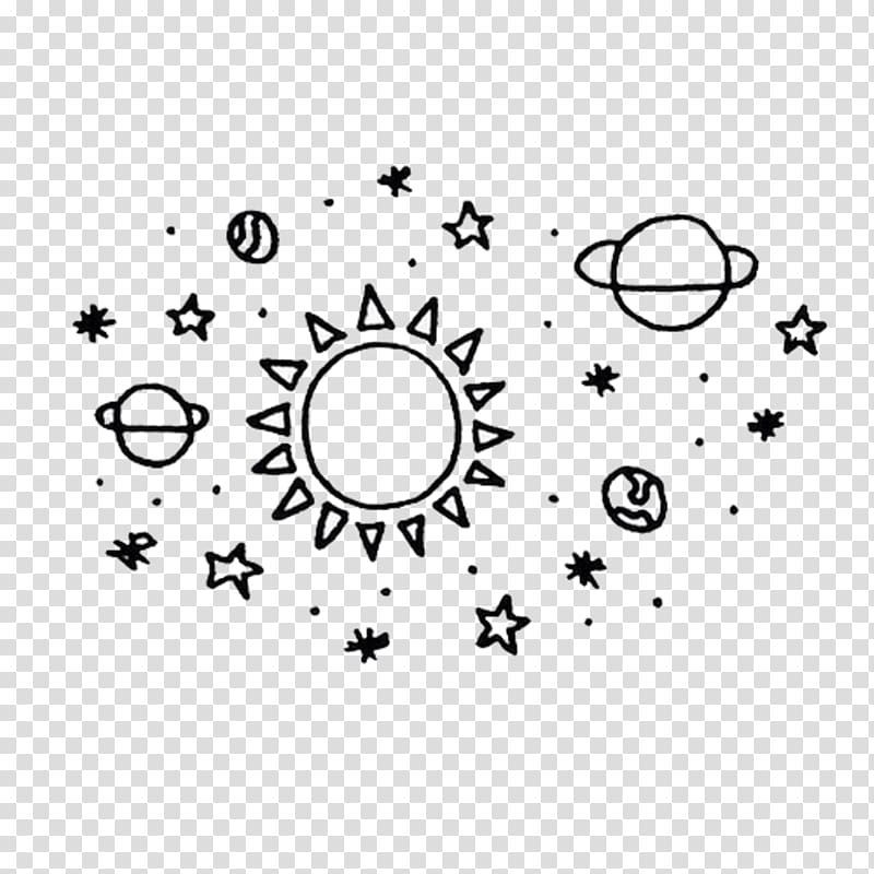 Drawing Planet Doodle Earth, doodle star transparent
