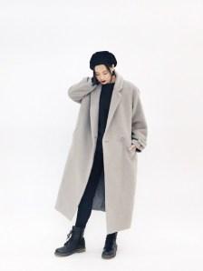 斎藤有沙さんの「【GISELe11月号掲載】SOFIE WOOL COAT(SLY)」を使ったコーディネート
