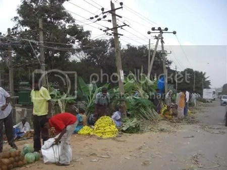 Bananna Leaf Vendors on Hosour Road
