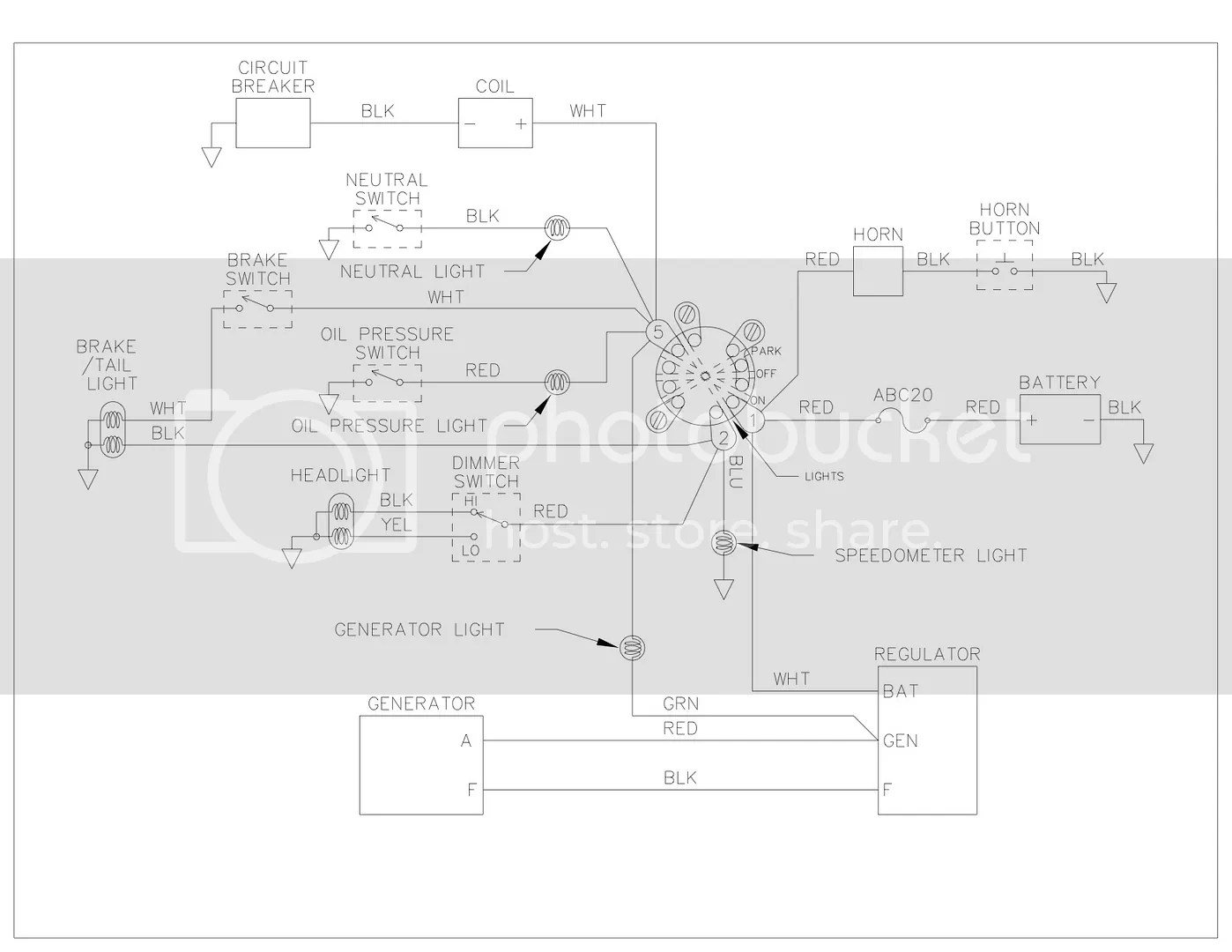 Need a simplified 5 Pole Ignition Switch Wiring Diagram