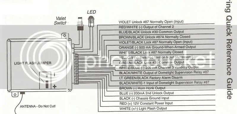viper 211hv wiring door actuators