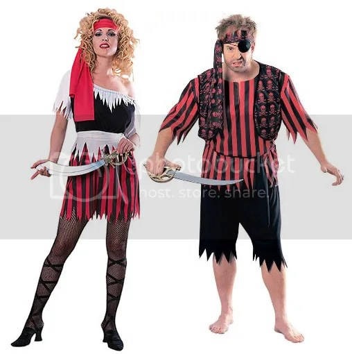 men and women's pirate costumes