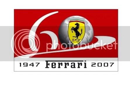 Logo dos 60 anos de Ferrari