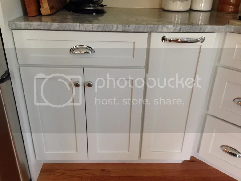 If you have white shaker style cabinetry...