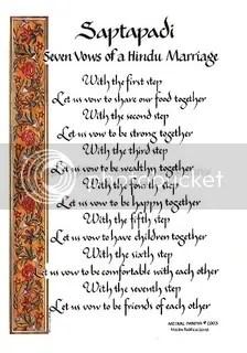 Saptapadi Seven Steps, Hinduism Marriage ceremony.jpg