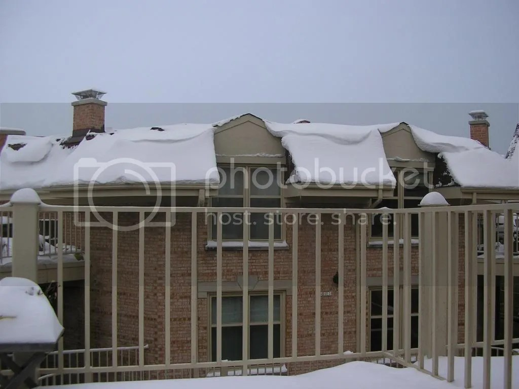 A view of a snow house (our neighbor) from our balcony