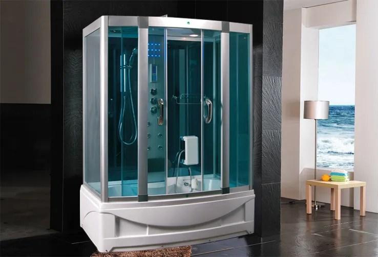 Cabina Idromassaggio 150x90 per Box doccia Vasca Sauna con