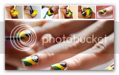 unhasdecoradas 2 Unhas pintadas com a bandeira do Brasil: Passo a Passo