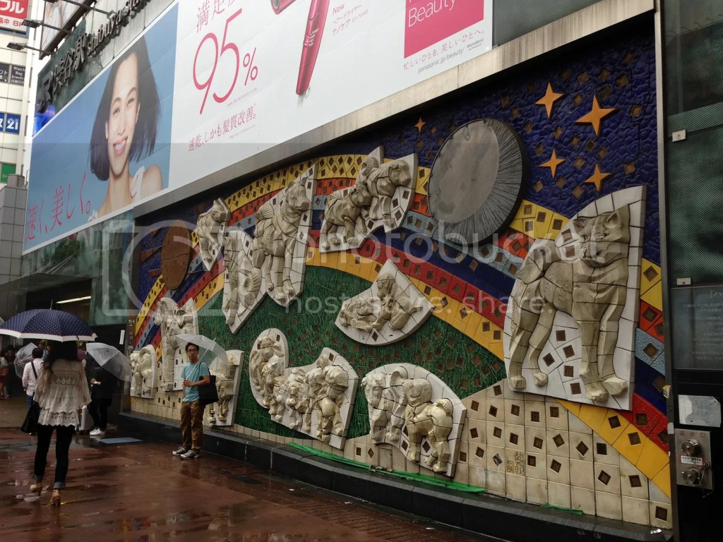 While looking for Hachiko, I found this cool mural!