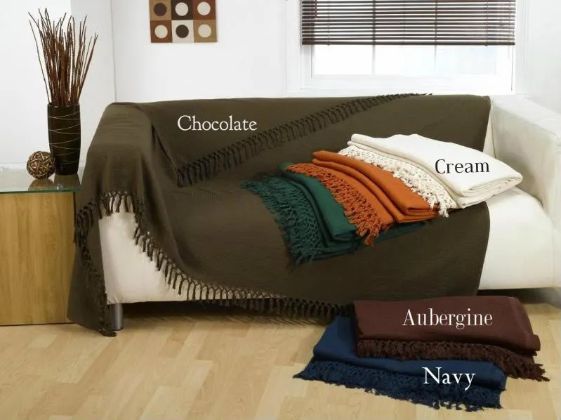cream sofa throws seat covers for cushions waffle throw over, throw, bedspread | ebay