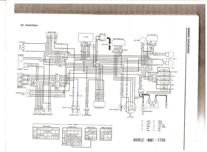 honda trx 350 wiring diagram