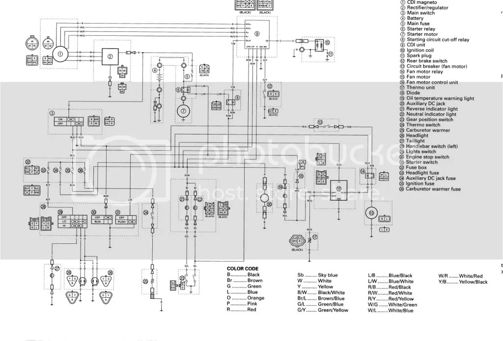 bigbearwiring honda 400ex electrical diagram efcaviation com 400ex headlight wiring diagram at gsmx.co