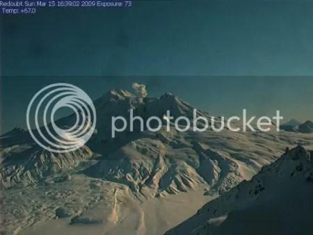 Redoubt 15 March 2009, 1639 (AVO Hut webcam)