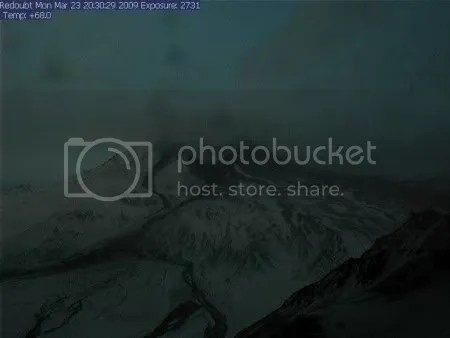 AVO Redoubt Hut webcam, 23 March 2009 20-30-29