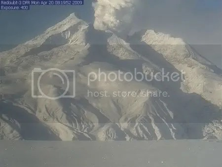 Redoubt - AVO DFR Webcam, 20 April 2009, 08:19