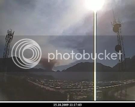 Chaiten volcano, 15 October 2009, 11:17