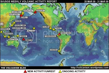 SI/USGS Weekly Volcanic Activity Report 25 March 2009 - 31 March 2009