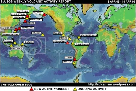 SI/USGS Weekly Volcanic Activity Report 8 April 2009 - 14 April 2009