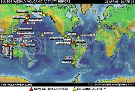 SI/USGS Weekly Volcanic Activity Report 22 April 2009 - 28 April 2009