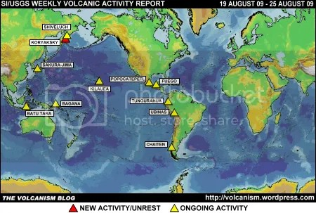 SI/USGS Weekly Volcanic Activity Report, 19-25 August 2009