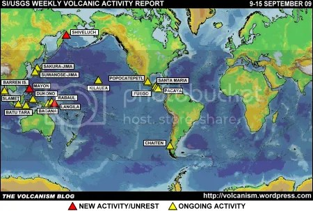 SI/USGS Weekly Volcanic Activity Report 9-15 September 2009