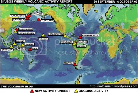 SI/USGS Weekly Volcanic Activity Report 30 September to 6 October 2009