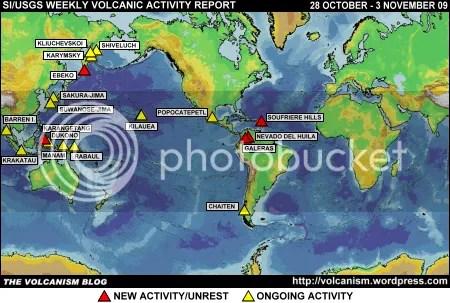 SI/USGS Weekly Volcanic Activity Report 28 October - 3 November 2009